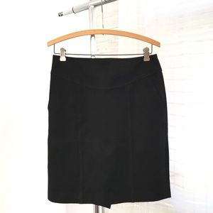 Banana Republic Black Pencil Skirt in Stretch Knit